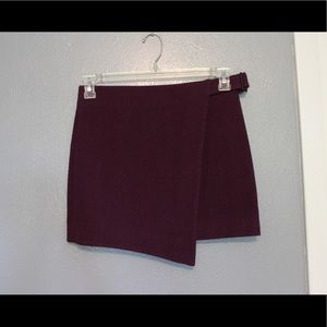 Kate Spade Saturday Buckle Over Wool Mini Skirt 00